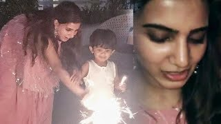 Samantha Akkineni DIWALI Celebrations Video | Naga Chaithanya Samantha Diwali Celebrations