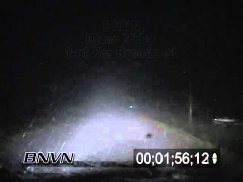 5/1/2008 POV Hail Footage At Night Stock Video