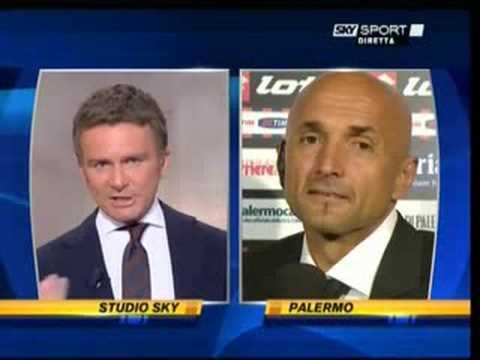 Luciano Spalletti al termine di Palermo - Roma 3-1