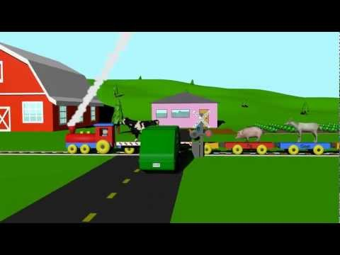 Farm Animal Train - Learning for Kids