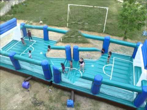 Brincolines acuaticos cancha de futbol inflable galeon for Oficinas para alquilar