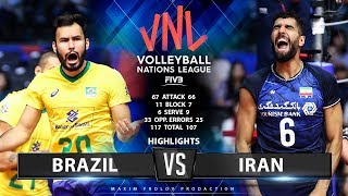 Brazil vs Iran  | Highlights Men's VNL 2019