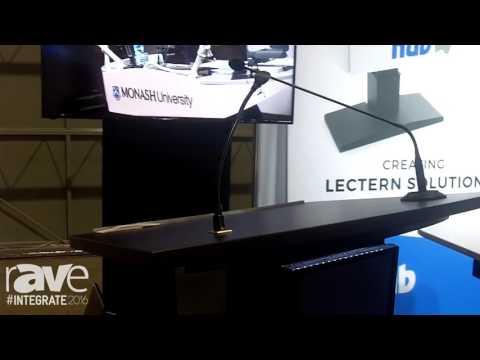 Integrate 2016: Lectern Hub Showcases Its Customizable Pod-4 Podium Style Lectern