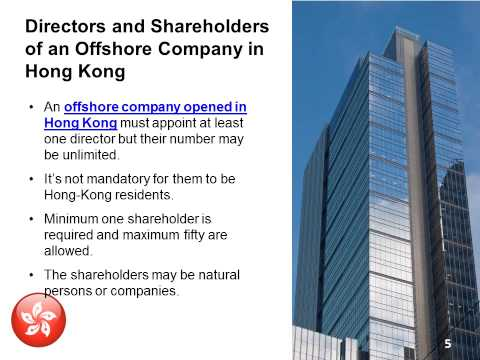 Create an Offshore Company in Hong-Kong