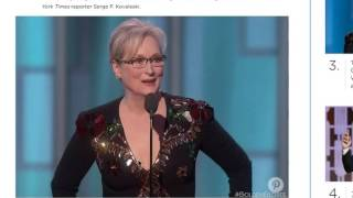 """Delirium at Golden Globes """"Do Celebrities realize that they are pieces of Sh@t?"""" Just wondering"""