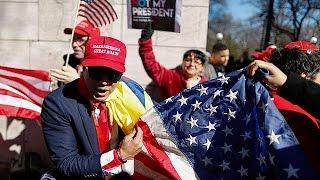 Anti-Trump militants mark