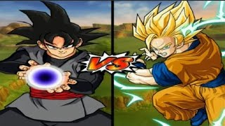 Dragon Ball Z Budokai Tenkaichi 3 - Black Goku VS Goku Super Saiyan 2 Red Potara