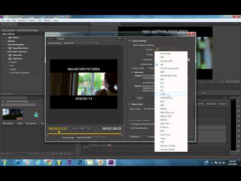 Premiere Pro Cc Settings To Export Music Videos On Youtube H.264. video