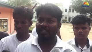 அநுராதபுரம் சிறைச்சாலைக்கு முன்பாக யாழ். மாணவர்கள் ஆர்ப்பாட்டம்!