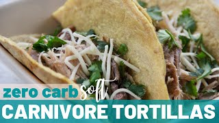 CARNIVORE TORTILLAS ~ ZERO CARBS | Keto Carnivore Diet Recipes | WHAT TO DO WITH EGG WHITES PT. 3
