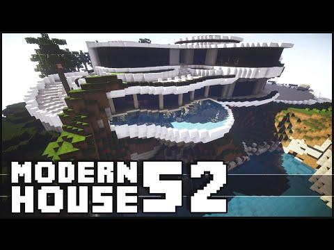 Minecraft Epic Modern House 52 with Shark Tank