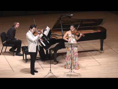 Moszkowski Suite for Two Violins &amp; Piano - 2nd mvt. | G. Schmidt, B. Hristova, V. Asuncion