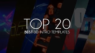 Top 20 Best 3D Intro Templates of 2015