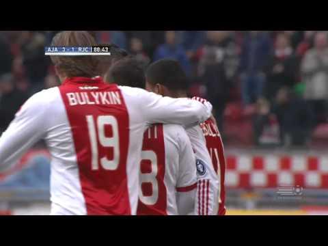 Ebecilio maakt met een heerlijke pegel de 3-1 bij Ajax-Roda JC Kerkrade