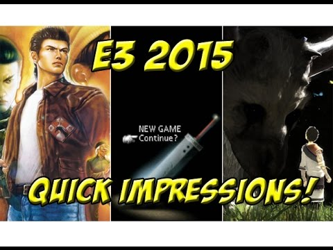 E3 2015: Quick Impressions! Sony, Microsoft, Nintendo - YoVideogames