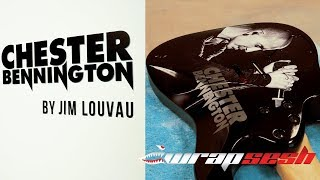 Chester Bennington Tribute Guitar Wrap
