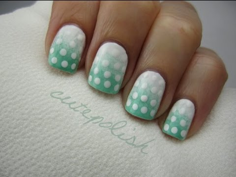 Easy Gradient Polka Dot Nail Art
