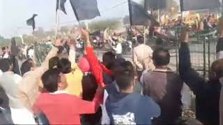 Amit Shah bike rally: INLD workers show black flag to BJP workers in Jind