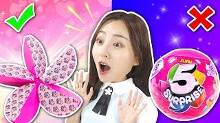 5 Surprise Live Capsule Unboxing Blind Bag Toy Review  | Xiaoling toys