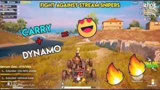 CARRYMINATI & DYNAMO in Same Team   Intense Battle With Stream Snipers   PUBG Mobile Custom Rooms