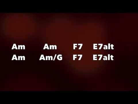 Easy Jazz Guitar Backing Track (Am)
