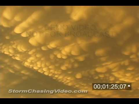 5/24/2002 Mammatus clouds stock footage