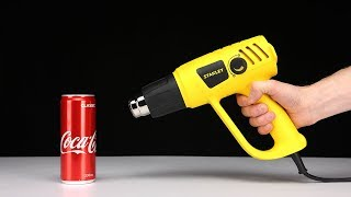 EXPERIMENT 600 degree HEAT GUN vs COCA COLA!