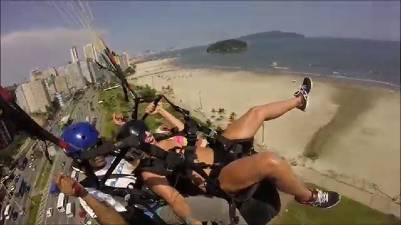 [Maria Voando de Parapente] Video