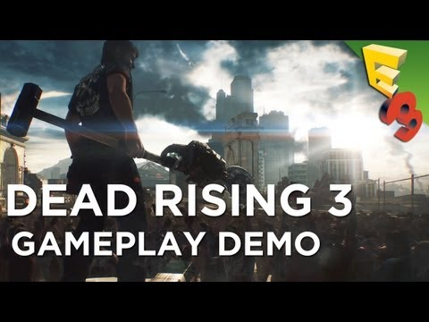 DEAD RISING 3 Gameplay Walkthrough! Xbox One's Open World Zombie Game with Adam Sessler at E3 2013!