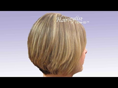 Layered Graduated Bob: Hair Tutorial: Stacked Bob. Razor Cut