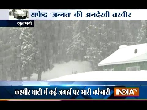 Cold Wave Tightens Grip on Kashmir, Heavy Snowfall Recorded in the Valley