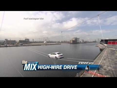 Jaguar XF Performs Tight Rope Over River Thames