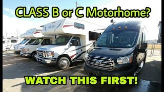Buying your first Class B or C RV? Watch this first!