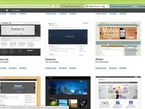 Aprenda como editar o background do wordpress e a instalar novos temas