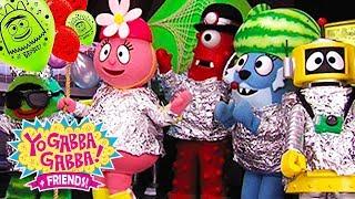 Yo Gabba Gabba! Family Fun - YO GABBA GABBA BALLOON RACE | Kids Songs | DJ LANCE ROCK | BABY SONGS