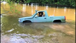ATTEMPTING TO DRIVE THE ARMY BLAZER THROUGH AN ACTUAL RIVER... COMPLETE DISASTER