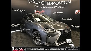 Lexus Certified Pre Owned 2017 RX 350 F Sport Series 2 Review Sherwood Park Alberta