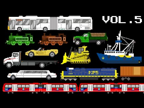 Vehicles Collection Volume 5 - Railway, Water, & Street Vehicles - The Kids' Picture Show