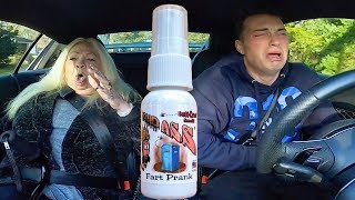Fart Spray Prank On Grandmom *TRAPPED IN CAR*