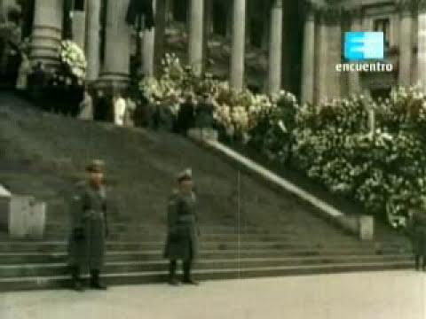 DOCUMENTAL HISTORICO: EVA PERON HA MUERTO, FUNERALES EN COLORES 1952 1