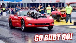 The Auction Corvette Attempts an 8 SECOND PASS! (+ Project Neighbor Fire)