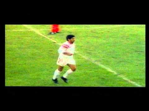 Diego Maradona Goal of penalty kick to Burgos (1992)
