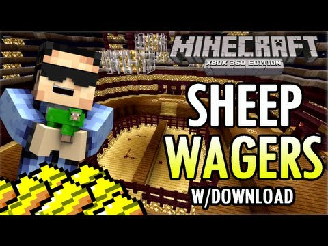 Minecraft (Xbox 360) SHEEP WAGERS Trailer w/ Download! [TU11] (custom map)