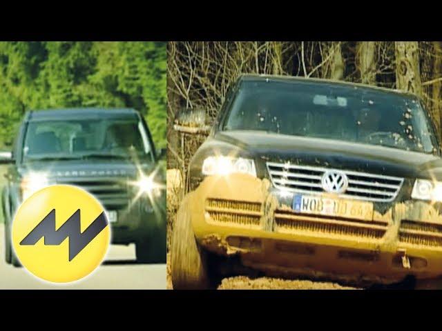 VW Touareg vs. Land Rover Discovery - YouTube