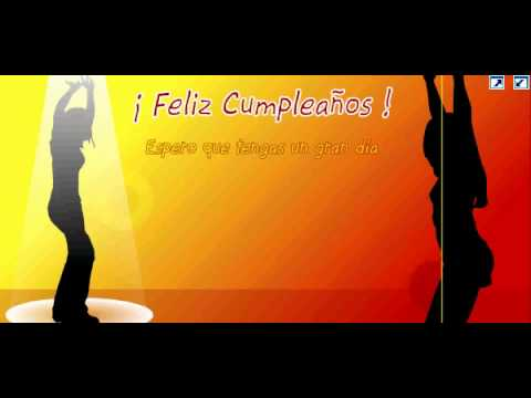 Celebrando -  Feliz Cumpleaños  para ti -Video Animado