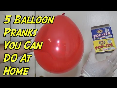 5 Evil Balloon Pranks You Can Do At Home - HOW TO PRANK (Evil Booby Traps)