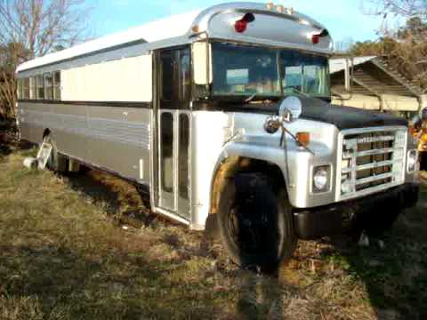 School bus conversion 1980 International bluebird RV/Car Hauler