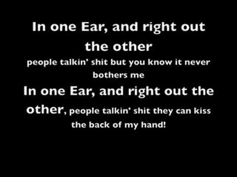 Cage The Elephant - In one Ear (with lyrics)
