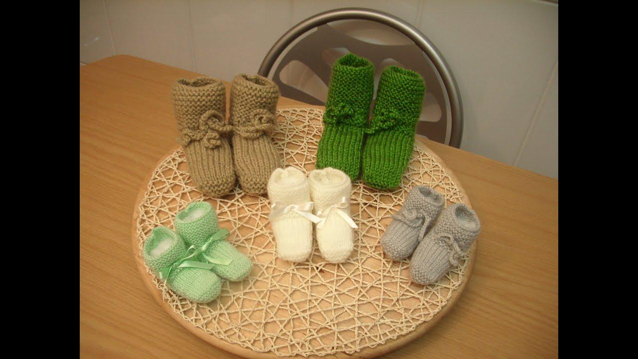 como hacer calcetines o patucos de lana youtube