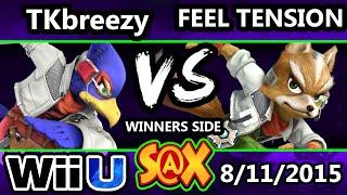 S@X 110 - VGBC | TKbreezy (Falco) Vs. Feel Tension (Fox) SSB4 Tournament - Smash Wii U - Smash 4